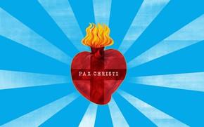 Картинка light, fire, heart, sun, jesus, rays of Sun, sacred heart