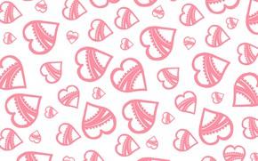 Картинка фон, обои, текстура, сердечки