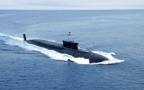 Обои вмф, атомная подводная лодка, проект 955, дмитрий донской, борей