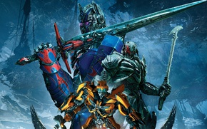 Обои Transformers: The Last Knight, Movie, Optimus Prime, Фильм, Трансформеры: Последний рыцарь