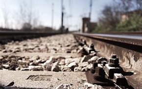 Картинка дорога, фон, железная дорога