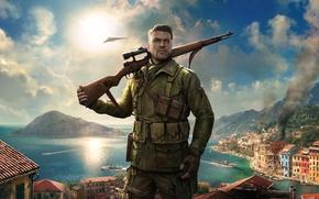 Обои Снайпер, Game, Sniper Elite 4