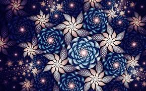 Обои абстракция, узоры, графика, фракталы, цветы