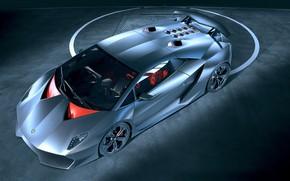 Обои машина, фон, Lamborghini, серебристый авто