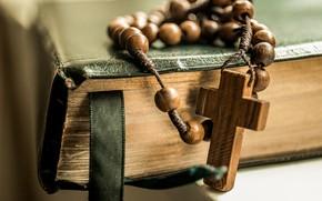 Картинка крест, Книга, бусы, cross, библия, beads, Book, Bible