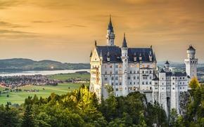 Картинка Neuschwanstein, landscape, castle