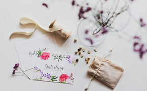 Картинка цветы, веточка, открытка