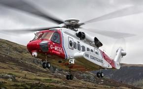 Картинка полёт, вертолёт, летит, Sikorsky S-92