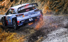 Обои Авто, Спорт, Машина, Гонка, Искры, Hyundai, Автомобиль, WRC, Rally, Ралли, i20, Paddon, Hayden Paddon, Hyundai ...