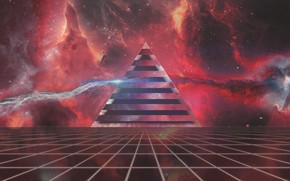 Обои Музыка, Неон, Космос, Пирамида, Фон, Треугольник, Pink Floyd, Арт, Пинк Флойд, The Dark Side of ...