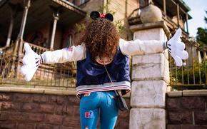 Картинка попа, девушка, джинсы, кудряшки, ушки, MAVRIN™, MAVRIN, DISNEY