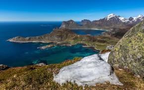 Обои Норвегия, Norway, Lofoten, Offersøykammen