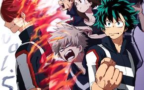 Картинка аниме, герои, Boku no Hero Academia, Моя геройская акадеимя