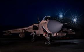 Обои ночь, зубы, пасть, самолёт, Panavia Tornado