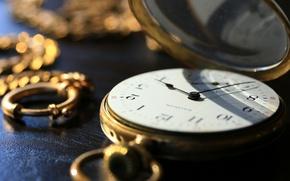 Обои часы, циферблат, цепочка, карманные