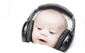 Картинка музыка, наушники, ребёнок