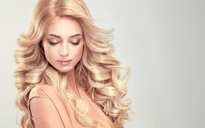 Картинка ресницы, волосы, макияж, прическа, блондинка, длинные, edwardderule