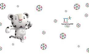 Картинка Белый тигр, Soohorang, Сухоран, Талисман, Пхенчхан, Олимпийская игра