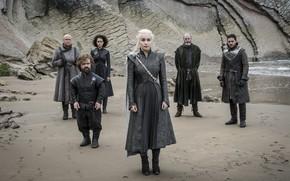 Картинка beach, Game of Thrones, Daenerys Targaryen, John Snow, Tyrion Lannister, Melisandre, Davos Seaworth, Varys, Dragonstone