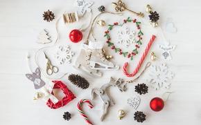 Картинка шары, Новый Год, Рождество, white, vintage, merry christmas, decoration, xmas