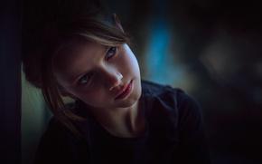 Картинка задумчивость, взгляд, девочка