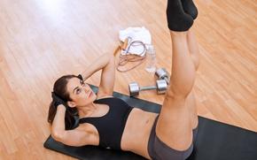 Картинка legs, brunette, workout, fitness, yoga