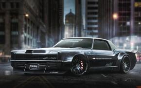 Картинка Eldorado, Cadillac, Черный, Ночь, Город, Арт, Рендеринг, Yasid Design, Cadillac Eldorado, Yasid Oozeear, YASIDDESIGN, Cadillac …