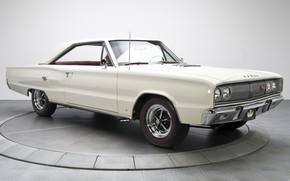 Картинка 1967, White, Dodge Coronet, Muscle classic