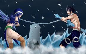 Картинка anime, Gray, manga, japanese, Fairy Tail, Juvia, by schismart17