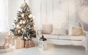Картинка украшения, игрушки, елка, Новый Год, Рождество, подарки, white, Christmas, design, Merry Christmas, Xmas, interior, home, …