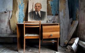 Картинка стол, стул, ленин, хлам