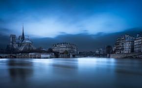 Обои река, здания, вода, собор, Paris, Quartier Saint-Victor, France, Река Сена, дома, Notre-Dame Cathedral, Париж, Франция, ...