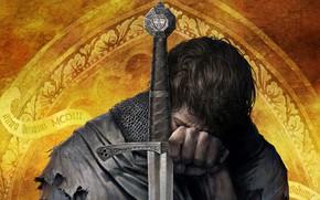 Обои средневековье, события XIII-XIV, крупный план, RPG, ролевая, Kingdom Come Deliverance, wallpaper., knight in armor, воин, ...