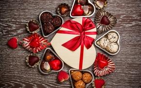 Картинка конфеты, love, romantic, hearts, chocolate, sweet, gift, valentine`s day