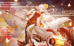 Обои арт, аниме, девушка, Onmyouji