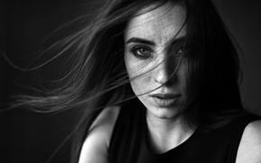Картинка модель, портрет, черно-белое, Nadya, Dmitry Sn