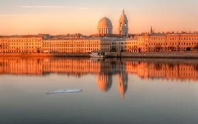Картинка река, льдина, Санкт-петербург