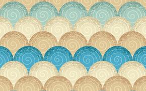 Обои голубой, текстура, узор, бежевый