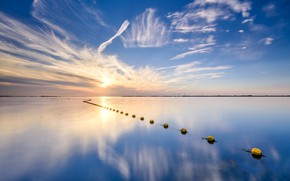 Картинка море, небо, облака, Нидерланды, Зеландия, Схаувен-Дёйвеланд