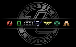 Картинка logo, Wonder Woman, Batman, bat, Green Lantern, heroes, Superman, hero, DC Comics, Cyborg, yuusha, The ...