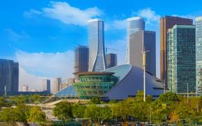 Картинка Город, Небоскребы, Здания, Китай, Шанхай