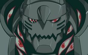 Картинка глаза, робот, аниме, Alphonse Elric, Full Metal Alchemist