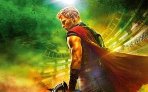 Картинка Hulk, Ragnarok, Lightning, Warrior, Gladiator, Marvel, Thor, Idris Elba, God, Benedict Cumberbatch, Chris Hemsworth, Walt …