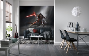 Картинка дизайн, стиль, интерьер, гостиная, столовая, жилое простпанство