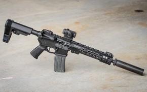Обои американская, полуавтоматическая винтовка, AR-15