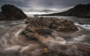 Картинка камни, побережье, Шотландия, Scotland, Portknockie, Morayshire, Portknockie harbour