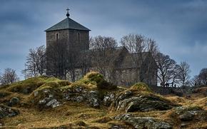 Картинка Норвегия, церковь, Norway, Rogaland, Avaldsnes