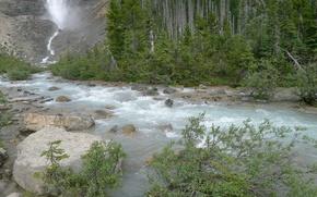 Картинка Природа, Поток, Водопад, Скалы, Река, Лес, Камни, Nature, River, Forest, Flow, Waterfa