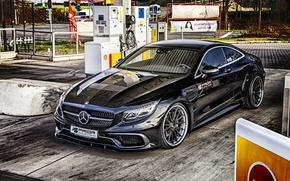 Обои купе, мерседес, C217, S-Class, Prior-Design, Coupe, Mercedes-Benz