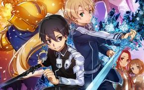 Картинка аниме, арт, парни, Мастера меча онлайн, Sword Art Online